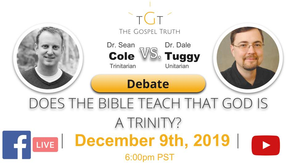 Tuggy vs Cole Debate - Dec 9, 2019