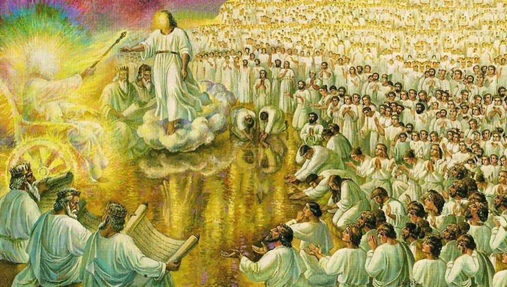 Revelation 5 Worship Scene